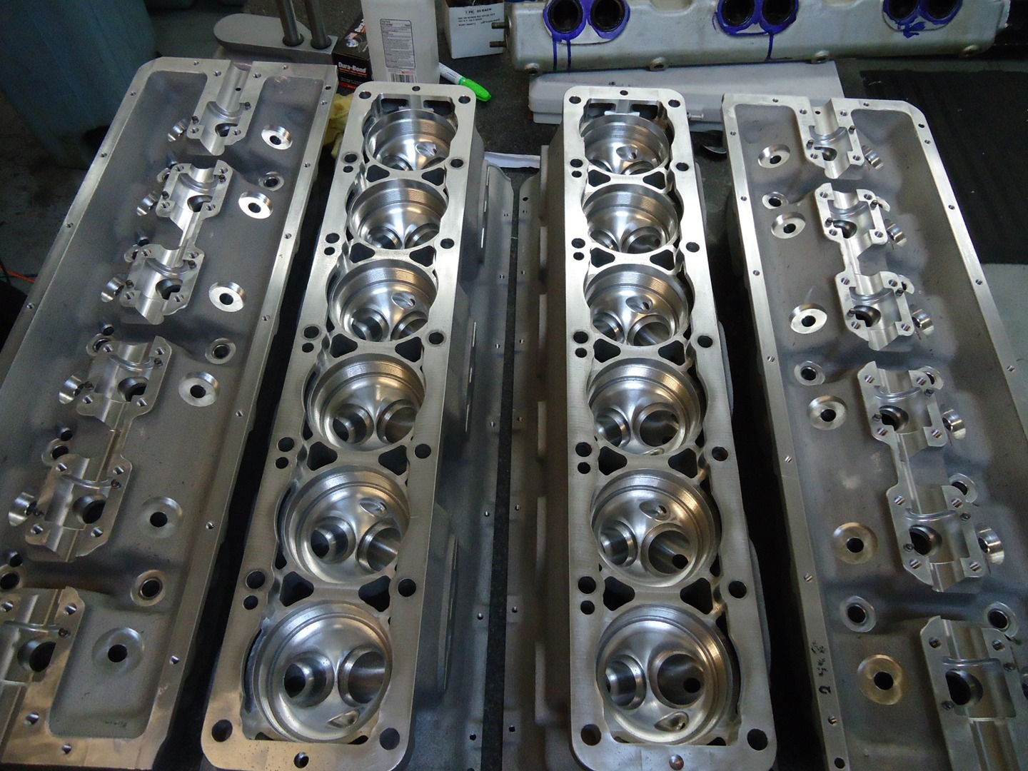 Machined 375 Cylinder Heads
